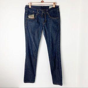 Diesel Clush Stretch Skinny Jeans Dark Wash Sz 27